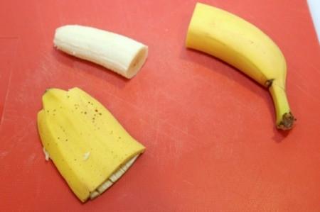 peel banana halves
