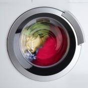 A washing machine spinning.