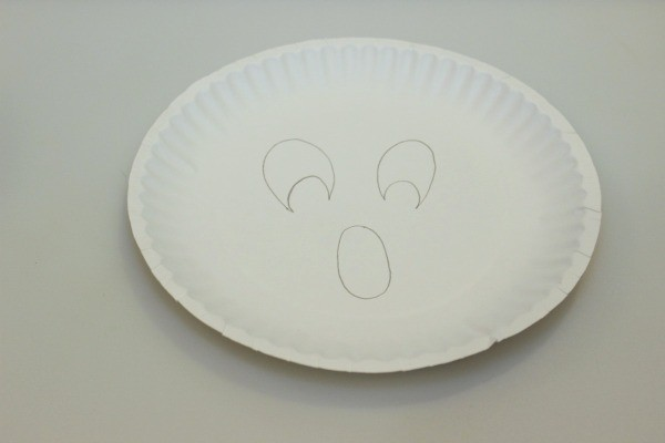 ... plates. draw face with pencil & Making a Paper Plate Ghost | ThriftyFun