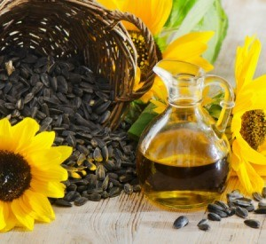 sunflower oil and seeds