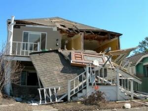 damaged house