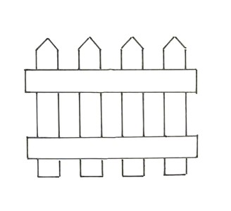 Pattern for the picket fence.