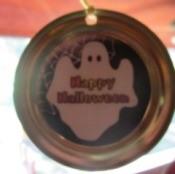 Ghost motif on lid.