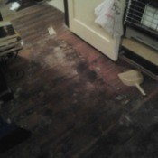 Stains on floors.