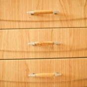Close-up of Dresser Drawers and Pulls