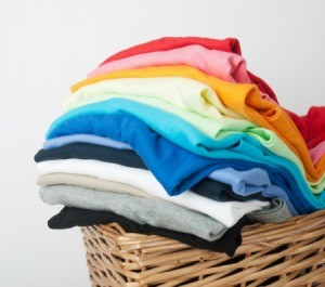 A stack of clean clothes.