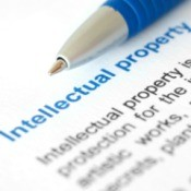Photo of a document describing what intellectual property is.