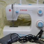 Singer Simple model sewing machine.