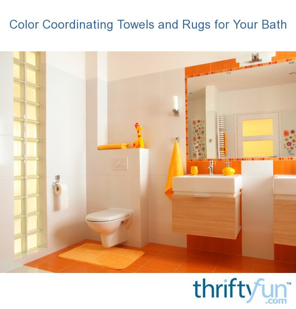 Color Coordinating Towels And Rugs For Your Bath Thriftyfun