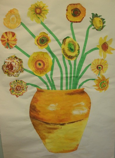 Craft ideas for nursing home patients thriftyfun van gogh flowers negle Images