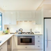 Kitchen with appliances.