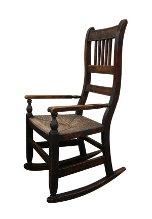 Old wood rocking chair.