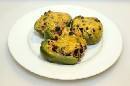 balck bean stuffed bell peppers