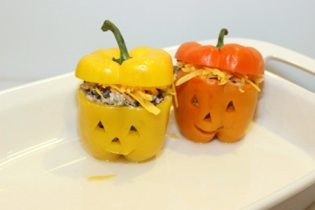 put tops on peppers