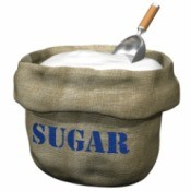 Large bag of sugar.