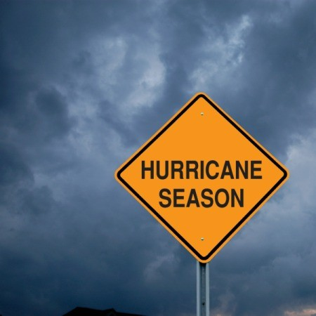 A sign that says hurricane season.