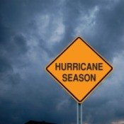 A sign that says hurricane season.