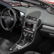 The interior of a brand new car.