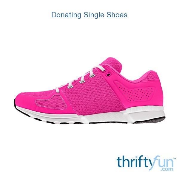 donating single shoes thriftyfun