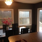 View of dining room from kitchen.
