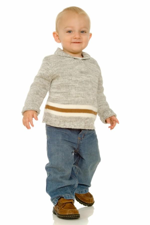 Baby Wearing Sweater