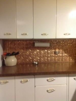 Vintage 1950's metal kitchen cabinets.