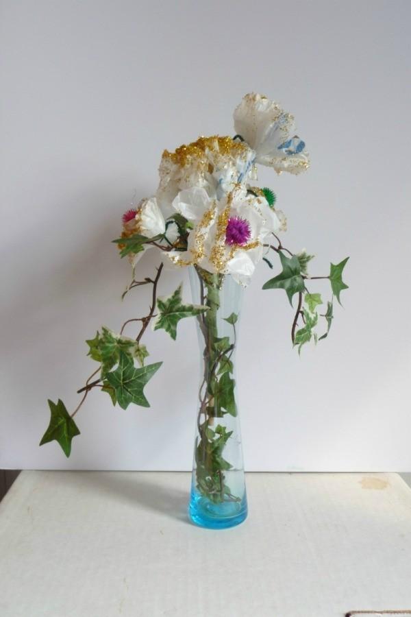 Plastic Grocery Bag Flowers