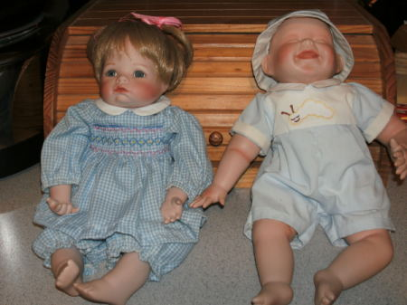 very cute, but buyer beware. all the realistic ashton drake collectable baby dolls are heavily scented. so are: american girl and fisher price baby dolls.