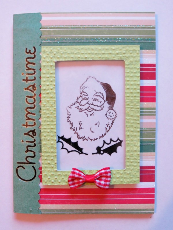 Christmastime Homemade Christmas Card | ThriftyFun