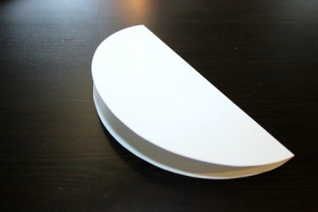 fold template in half
