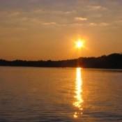 Sunrise of the lake.