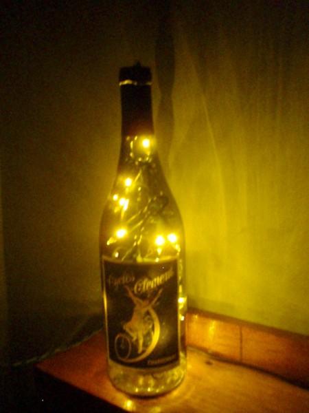 Lighted bottle.