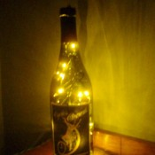 Lighted bottle.