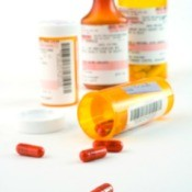 Bottles of prescription medication.