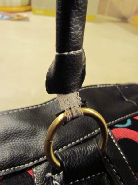 Closeup Of Purse Strap