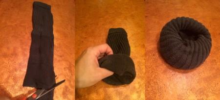 Turn Old Sock Into Hair Volumizing Bun