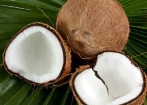 Fresh coconuts.