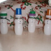 Finished snowmen.