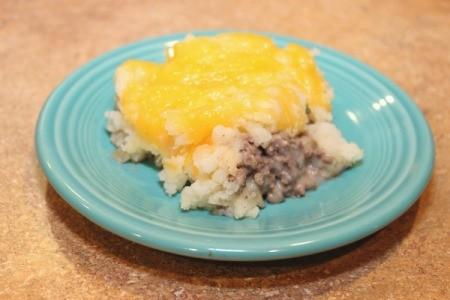 Mashed Potato and Hamburger Casserole