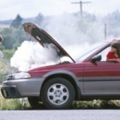 A Subaru overheating.