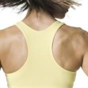 Woman wearing a sports bra.