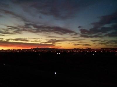 Beginnings of sunrise.