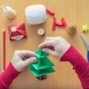 Woman Making Christmas Crafts