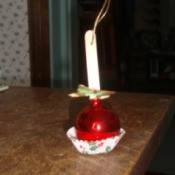 Candy Apple Ornament