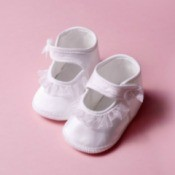Satin Baby Shoes