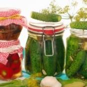 Fermenting Vegetables in Jars