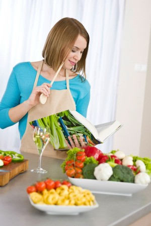 Woman Planning Low Calorie Recipe