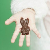 Melting Chocolate in Childs Hand