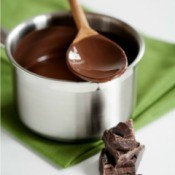 Melting Chocolate on Wooden Spoon