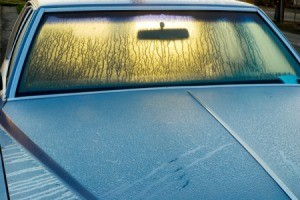 Car Window With Condensation